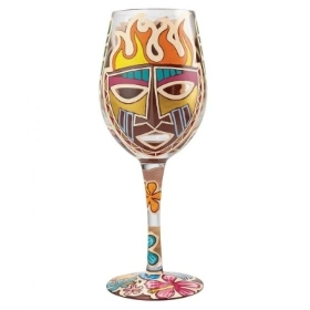 Lolita Tiki Wine Glass