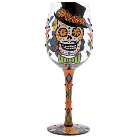 Lolita Sugar Skull Wine Glass